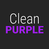 GO Contacts Clean Purple Theme