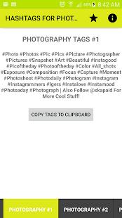 Hashtags For Photographers PRO - náhled