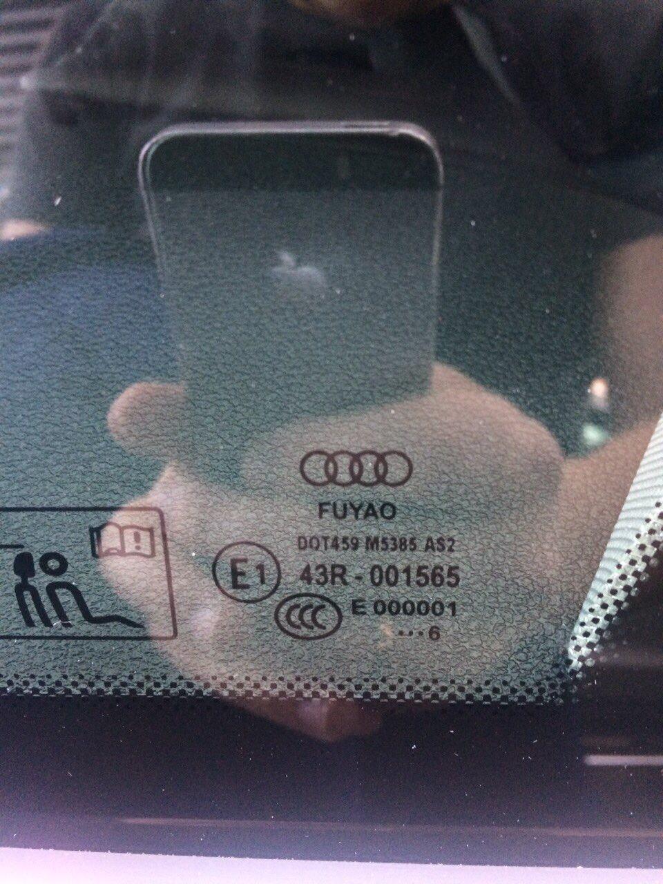 Стекло FUYAO на новом автомобиле Ауди