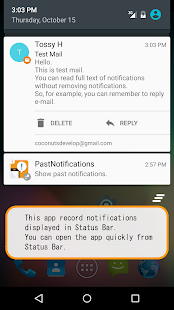 Past Notifications Screenshot