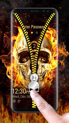 Skull & zipper style lock screen 9.3.0.1950_maste screenshots 2