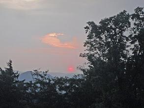 Photo: le lever du soleil au Falkenstein