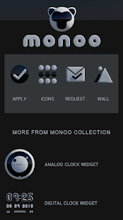 MONOO Icon Pack Black & White 3D HD Screenshot