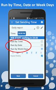 Auto SMS Scheduler / Sender - náhled