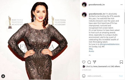 Grainne Seoige 'honoured' to host IFTA Awards and teases 'amazing stars' to feature on the night