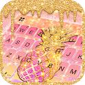 Glitter Drop Pineapple Keyboard Theme icon