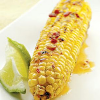 Grilled Corn With Chipotle-lime Butter.