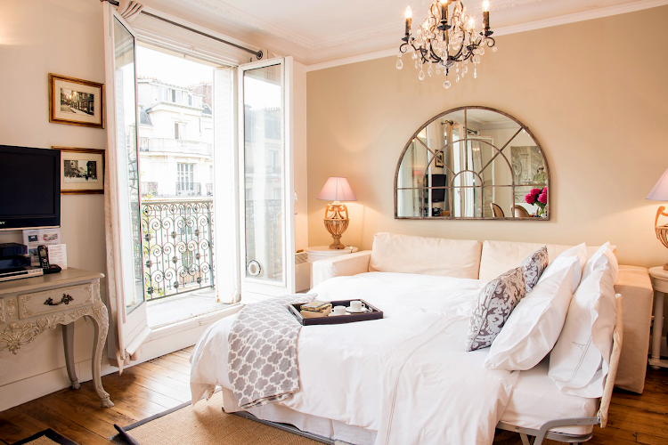 living space at Eiffel Tower apartment