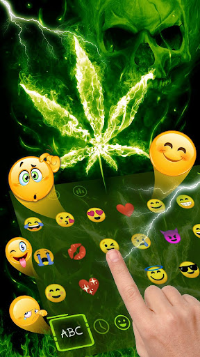 Weed Rasta Skull Fire Keyboard 10001003 screenshots 2