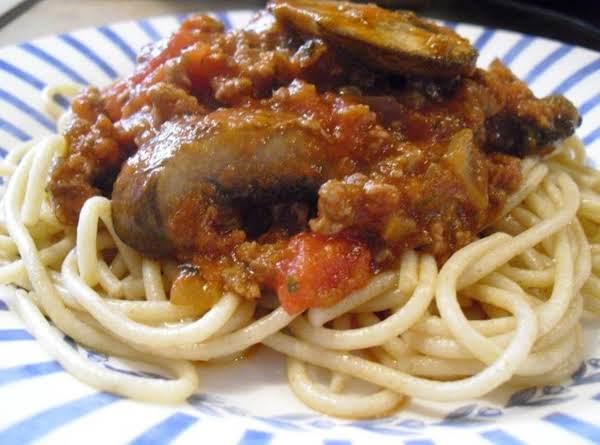 Whole Wheat Venison Spaghetti