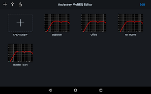 Audyssey MultEQ Editor app screenshot for Android