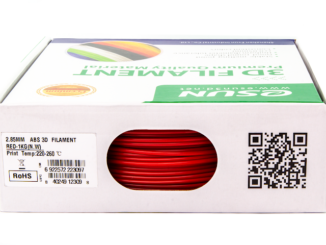 eSUN Red ABS Filament - 1.75mm (1kg)