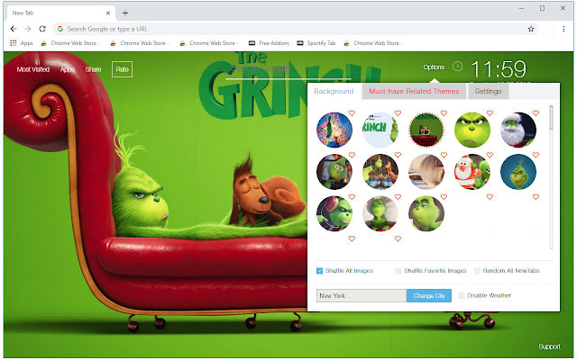 The Grinch Wallpapers New Tab - freeaddon.com