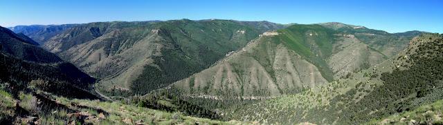 Panorama showing Huntington Canyon and East Mountain