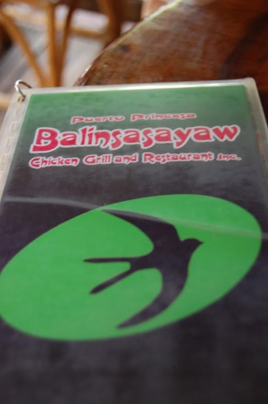 Balinsasayaw menu