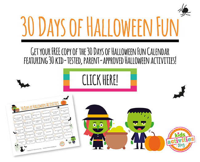 30 days of halloween fun calendar - Fun Halloween Games For Toddlers