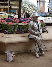 Photo: Silver guy.  He was really working it for tips!