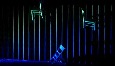 Photo: Lichtinstallation Wolfgang Flammersfeld und Reinhard Hartleif