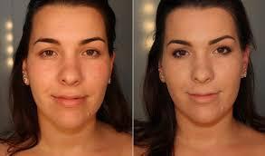 Resultado de imagem para rosto com base - antes e depos