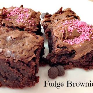 Perfect Fudge Brownies With Chocolate Frosting.