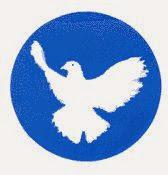 Button: Friedenstaube.