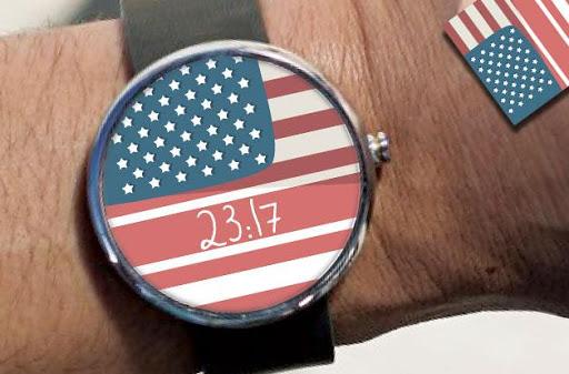 America USA Flag Watch Face