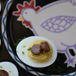 Maple Sausage Breakfast Deviled Eggs