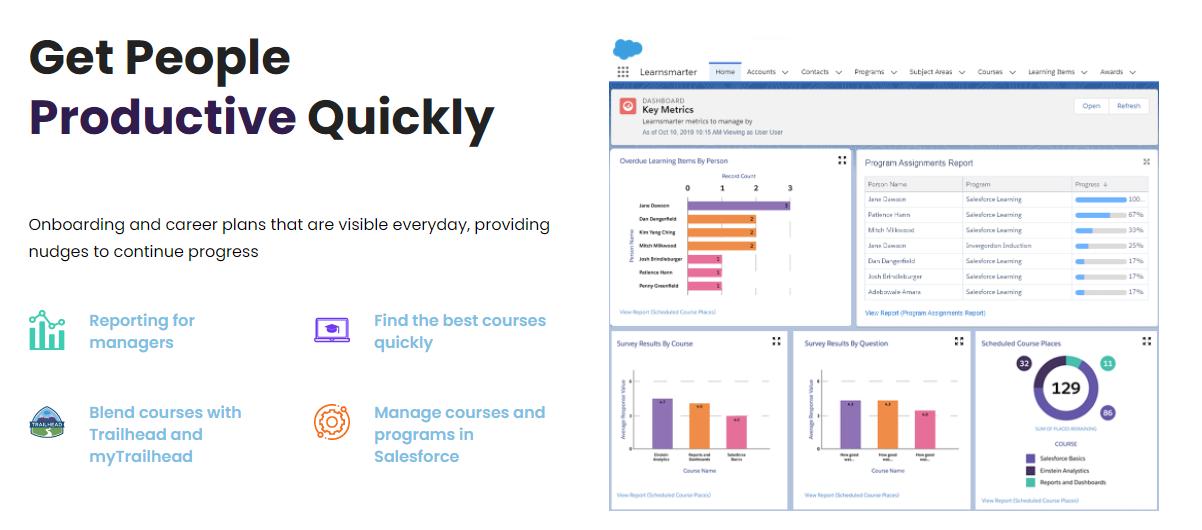 Learnsmarter screen shot salesforce training resources