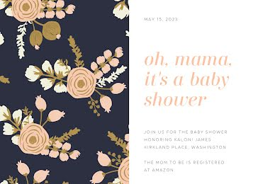 It's a Baby Shower - Baby Shower Invitation Template