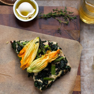 {Coca Mallorquina} Mallorcan Flatbread with Spring Vegetables