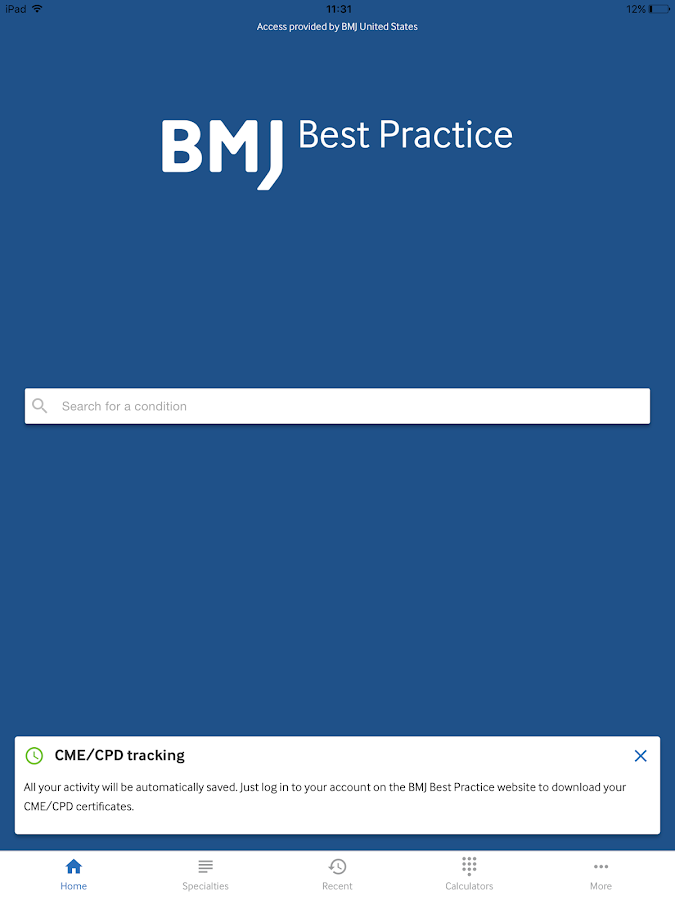 BMJ Best Practice- screenshot