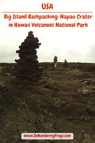 Big Island Backpacking: Nāpau Crater in Hawaii Volcanoes National Park // Trekking on the Napau Crater Trail