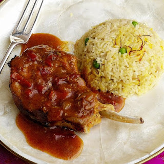 Jalfrezi Pork Chops with Fragrant Rice.