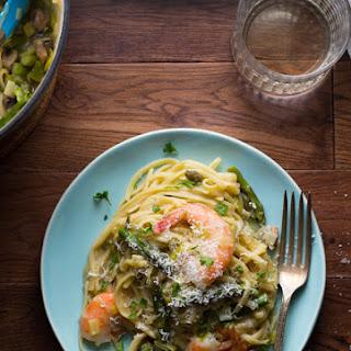 One-Pot Shrimp Linguine with Spring Vegetables