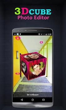 3D Cube Live Wallpaper Photo Editor