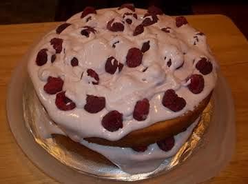 Raspberry Layered Cake