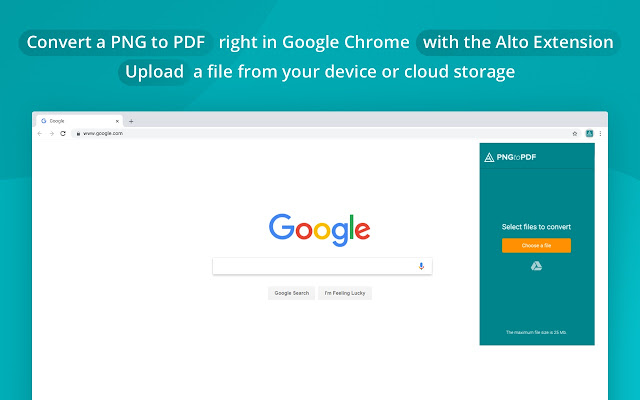 Alto PNG to PDF Converter by PDFfiller