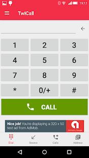 TwiCall - Twilio communication App. - náhled