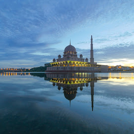 by Shahrin Ayob - Buildings & Architecture Places of Worship ( mosque, sunrise, reflection, malaysia, blue hour )