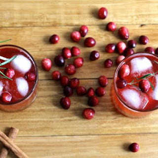 Cranberry Ginger Ale Rosemary.