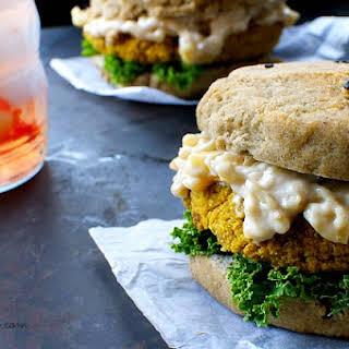 Quinoa Veggie Burgers with Gluten Free Sesame Seed Buns.