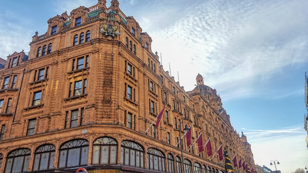 Outside of Harrods