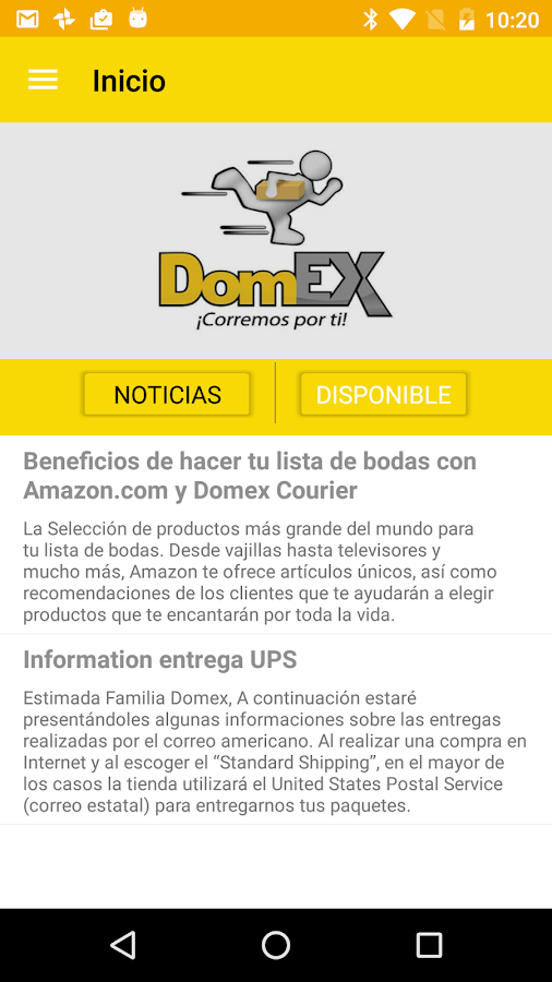 Domex Courier- screenshot