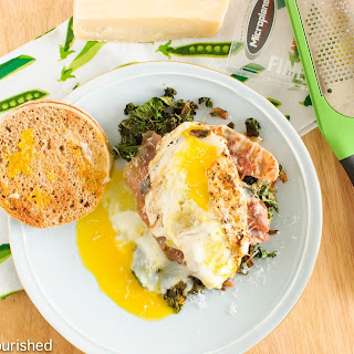 Kale and Runny Egg Breakfast Sandwich
