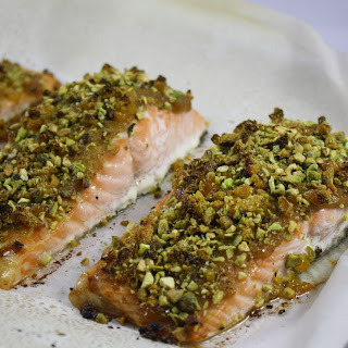 Apricot Glazed Pistachio Crusted Salmon