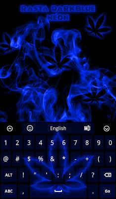 Rasta DarkBlue Neon Keyboard - screenshot