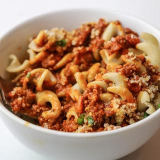 Three Ingredient Pasta Bolognese.