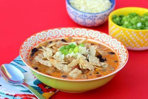 "Best Ever Chicken Tortilla Soup ""This soup was a clear winner in..."