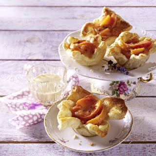 Peach and Lavender Tartlets.