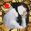 Hijab Wedding Photo Suit Couple icon